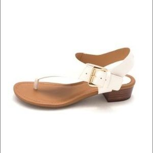 Tommy Hilfiger white sandals with heel